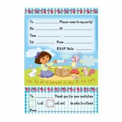 Dora The Explorer The Perfect Picnic Party Invitations