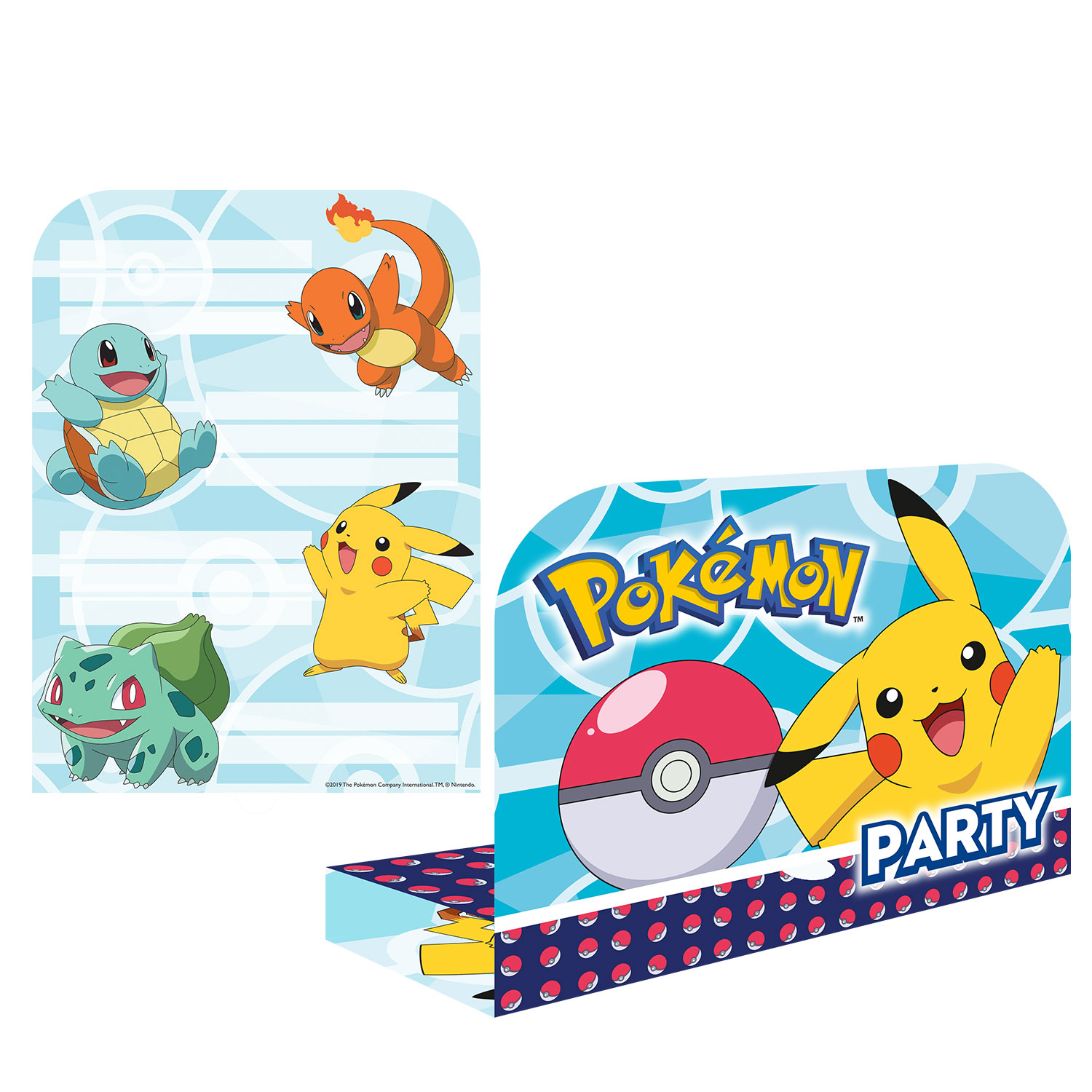 Pokemon & Friends Party Invitations