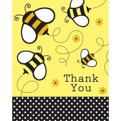 Baby Bee Buzz Party Thank You's