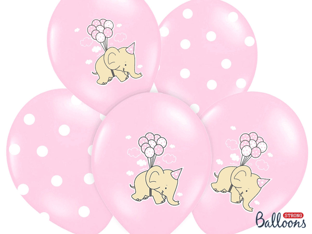 Elephant Pastel Pink Party Balloons