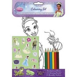 Princess And The Frog Party Colouring Set