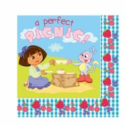 Dora The Explorer  A Perfect Picnic Party Napkins