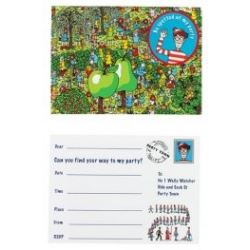 Where's Wally Party Invitations