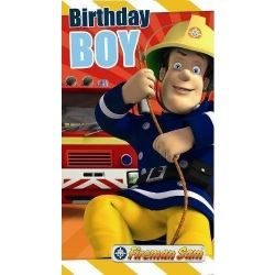 Fireman Sam Happy Birthday Boy Card Any Age