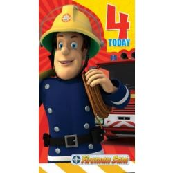 Fireman Sam Birthday Card Age 4