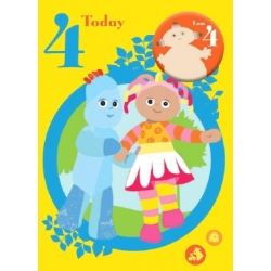 In The Night Garden Birthday Card Age 4 With Badge