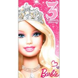 Barbie Doll Birthday Card Age 3