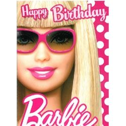 Barbie Doll Happy Birthday Card