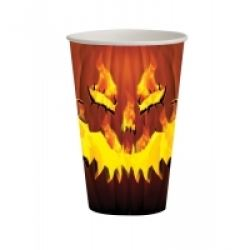 Halloween Fiery Pumpkin Party Cups