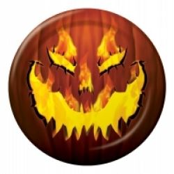 Halloween Fiery Pumpkin Party Plates