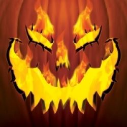 Halloween Fiery Pumpkin Party  Napkins