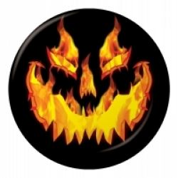 Halloween Fiery Pumpkin Lunch Party Plates