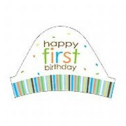 Sweet At One Boy Party Hat Headband