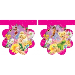 Tinkerbell Birthday Flag Banner