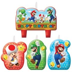 Super Mario Bros Birthday Party Candles