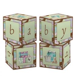 Parenthood Baby Shower Party Table Centre  Piece Blocks