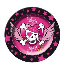 Pirate Girl Party Plates