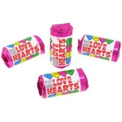 Party Favour Sweets Swizzel Matlow Love Hearts Mini Rolls