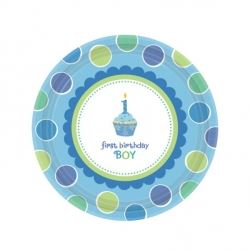 Sweet Little Cupcake Boy 1st Birthday Party Eco Lunch Plates
