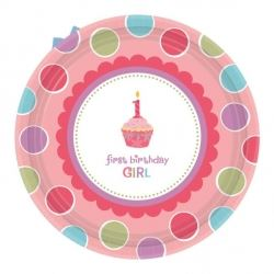 Sweet Little Cupcake Girl 1st Birthday Party Eco Lunch Plates
