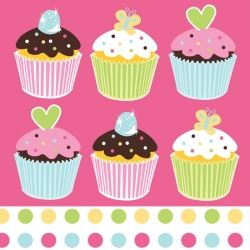 Sweet Treats Cup Cakes Party Napkins