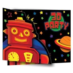 3D Party Bots Party Invitations