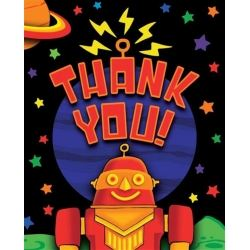 3D Party Bots Party Thank You's