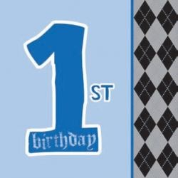 1st Birthday Boy Lil Rebel Party Napkins