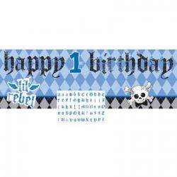 1st Birthday Boy Lil Rebel Party Giant Banner