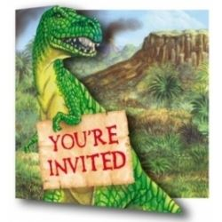 Diggin Dinosaur Party  Invitations