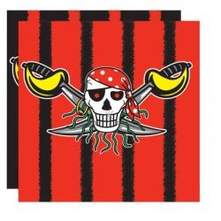 Pirate Boy Black Party Napkins