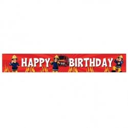 Fireman Sam Party Happy Birthday Foil Banner