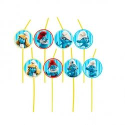 The Smurfs Party Drinking Straws