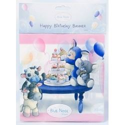 My Blue Nose Friends Party Happy Birthday Banner