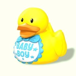 Baby Boy Blue Rubber Duck Party Favour
