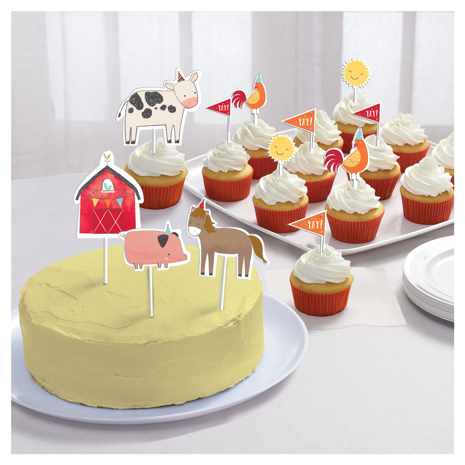 Barnyard Treats Cake Toppers