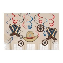Western Cowboy Party Swirls