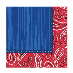 Blue Jeans Cabana Cowboy Party Napkins