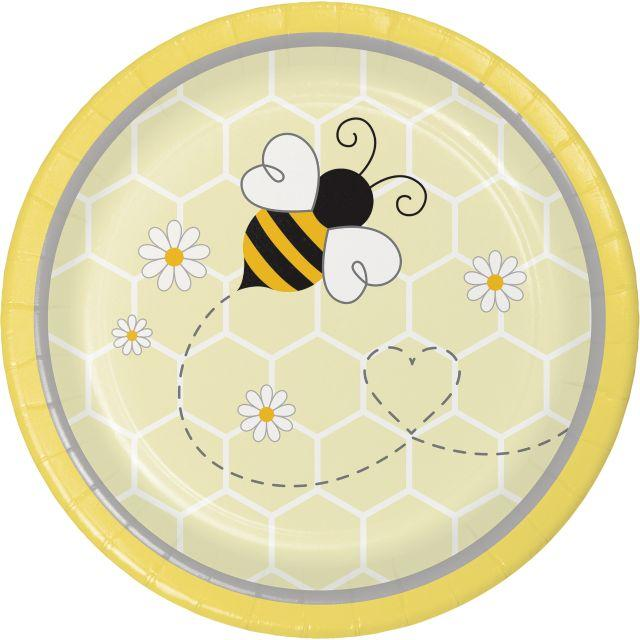 Bumble Bee Baby Lunch Party Plates