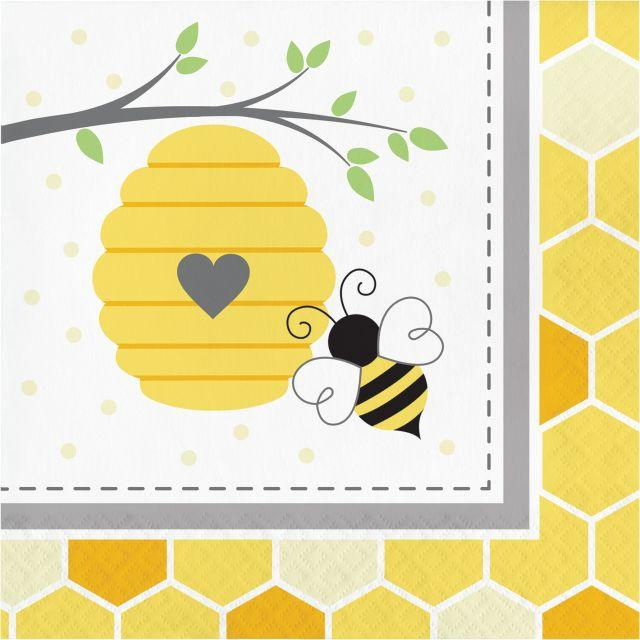 Bumble Bee Baby Party Napkins