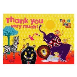 Tinga Tinga Tales Jungle Party Thank You Cards