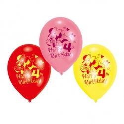 Disney Minnie Mouse Party Age 4 Balloons