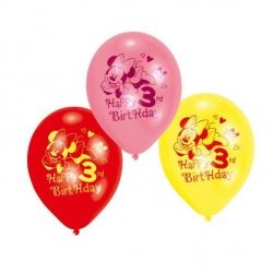 Disney Minnie Mouse Party Age 3 Balloons