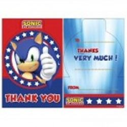 Sonic The Hedgehog  Party Thank You Cards