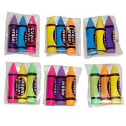 Party Favour Crayon Erasers