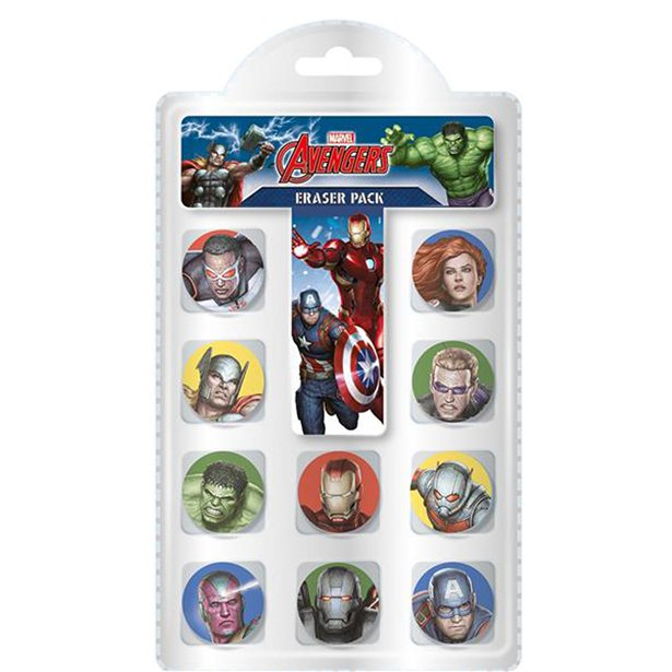 Avenger Party Favour Eraser Pack