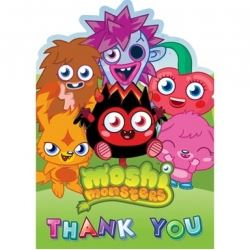 Moshi Monsters Party Thank You's
