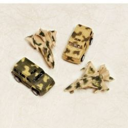 Camouflage Pull Back Tank & Jet Party Favours
