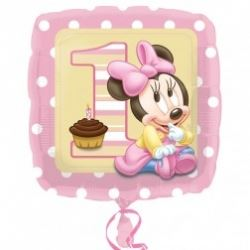 Baby Minnie Mouse 1st Birthday Foil Balloon