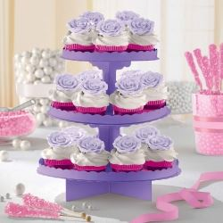 Purple Party Cupcake Stand